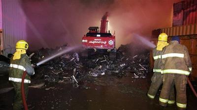 ستة فرق للإطفاء تسيطر على حريق في سكراب أمغرة