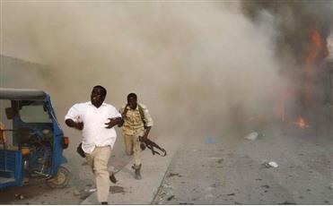 3 سيارات ملغومة خارج فندق بالعاصمة الصومالية مقديشو