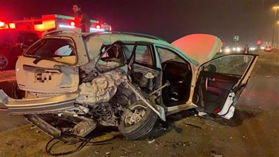 إصابة شخصين في حادث تصادم على «الدائري السادس»