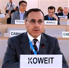 مندوب دولة الكويت الدائم لدى الامم المتحدة والمنظمات الدولية الاخرى في جنيف السفير جمال الغنيم