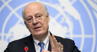 دي ميستورا يناشد الأطراف المتناحرة بسوريا لتشكيل لجنة للتفاوض على الدستور