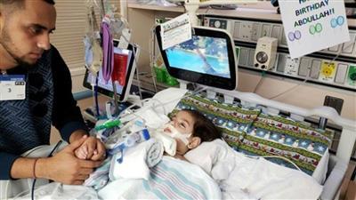 صورة الطفل عبد الله حسن بمستشفى