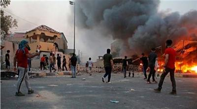 "Renewed protests in front of the building of the province of Basra following calls for ""Friday anger"" 603709_e"