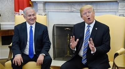 الرئيس الأمريكي ورئيس الوزراء الإسرائيلي