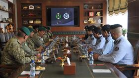 جانب من اجتماع تنفيذ برتوكول التعاون المشترك بين الحرس الوطني و الادارة العامة للاطفاء
