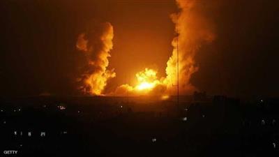 استهدفت الغارات الإسرائيلية 6 مواقع في القطاع