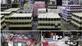 إحباط تهريب 8149 زجاجة خمر مستوردة إلى البلاد
