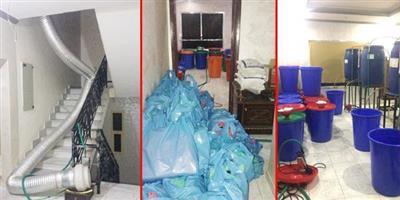 ضبط 4 آسيويين يديرون مصنعاً للخمور في سعد العبدالله