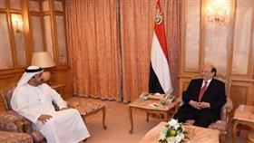 وزير الخارجية الإماراتي يلتقي الرئيس اليمني