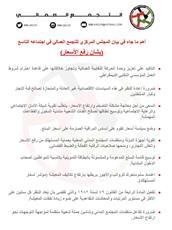 بيان المجلس المركزي للتجمع العمالي في اجتماعه التاسع بشأن «ارتفاع الأسعار»