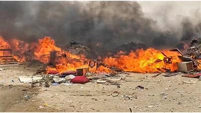 100 رجل إطفاء سيطروا على حريق مردم النفايات بمنطقة ميناء عبدالله الغربية