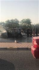 الإطفاء تسيطر على حريق مركبة بالقرب من مستشفى العدان