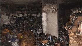 إخماد حريق مخزن في سرداب بمنطقة أبوحليفة