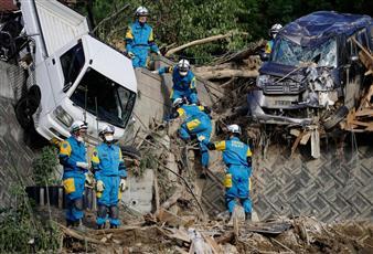 ارتفاع حصيلة ضحايا الأمطار الغزيرة في اليابان لـ 179 قتيلًا