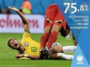 «الطوارئ البرتغالية» تستخدم «إصابات نيمار» للتحذير من ازدياد المكالمات الوهمية