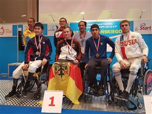 «الأزرق للمعاقين» يفوز بميدالية برونزية في بطولة كأس العالم للمبارزة