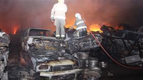 سبع فرق إطفاء تسيطر على حريق «سكراب النعايم»