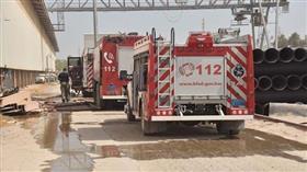 4 فرق إطفاء أخمدت حريق مصنع أصباغ بمنطقة الشعيبة الصناعية
