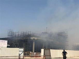 السيطرة على حريق بمبنى قيد الإنشاء في الزور