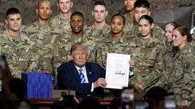 ترامب يوقع على قانون موازنة الدفاع الوطني لعام 2019