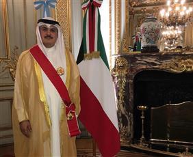 الأرجنتين تمنح السفير الكويتي وسام الاستحقاق تقديرًا لجهوده في تعزيز العلاقات