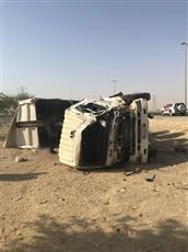 مصرع قائد نساف بعد انقلابه وسقوطه من فوق جسر على طريق الملك فهد