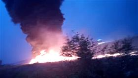 احتراق طائرة بوينج في مدينة سوتشي الروسية وإصابة 18 راكباً