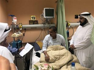 وزير الصحة يزور الطلبة الضباط المصابين بمستشفى الصباح