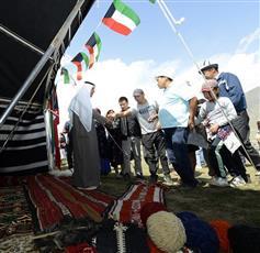 جناح الكويت في القرية التراثية في غرقيزيا يستقطب الزوار والمهتمين بالتراث