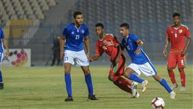 جانب من المباراة الودية بين منتخبي الكويت الاولمبي ونظيره العماني