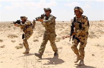 تدريبات عسكرية مصرية أمريكية لمكافحة الإرهاب