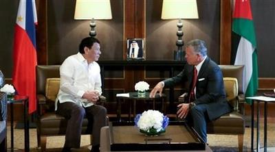 الرئيس الفلبيني يعرض على الملك عبدالله إرسال قوات إلى الأردن لقتال المتشددين المتطرفين