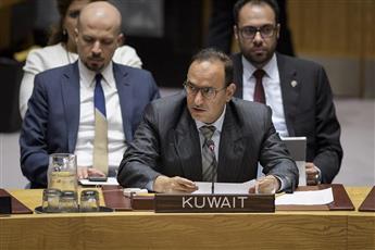 السفير منصور العتيبي يلقي كلمة الكويت بجلسة مجلس الامن حول الملف الكيماوي السوري