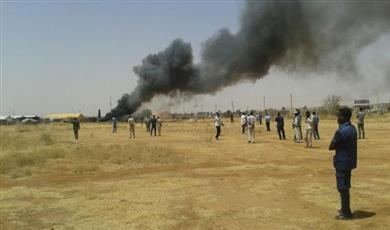 ارتفاع عدد ضحايا تحطم طائرة بجنوب السودان لـ 17 قتيلًا