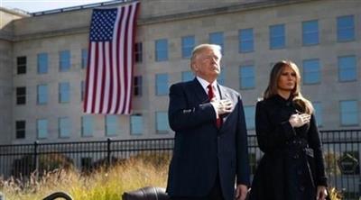 الرئيس دونالد ترامب وزوجته ميلانيا في ذكرى 11 سبتمبر 2011 ببنسلفانيا