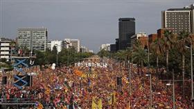 انفصاليون يتظاهرون في برشلونة عاصمة كاتالونيا
