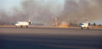 إطلاق صواريخ باتجاه مطار معيتيقة في العاصمة الليبية طرابلس