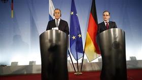 لافروف خلال مؤتمر صحفي مع نظيره الألماني هيغو ماس