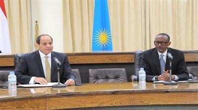 الرئيسان المصري عبد الفتاح السيسي والرواندي بول كاغامي