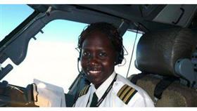 أول فتاة تقود طائرة تجارية في جنوب السودان
