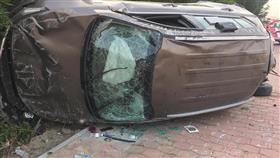 إصابة شخص جراء حادث انقلاب على طريق الفحيحيل