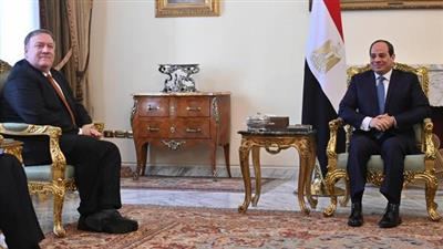 الرئيس المصري يستقبل وزير الخارجية الأمريكي بالقاهرة