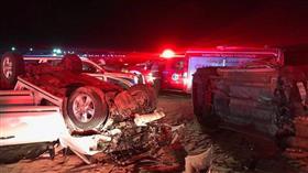 وفاة 6 وافدين في حادث مروع على طريق الوفرة