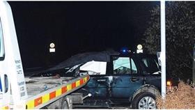 سيارة الأمير فيليب في مكان الحادث