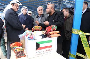 أربيل.. أطنان المساعدات الكويتية لمخيم «اشتي»