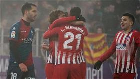 أتلتيكو مدريد يهزم هويسكا ويقلص الفارق مع برشلونة متصدر الدوري الاسباني