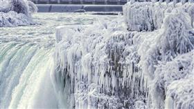 العاصفة القطبية تُجمد مياه شلالات نياغارا