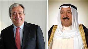سمو الأمير يتلقى اتصالا هاتفيا من الأمين العام للأمم المتحدة