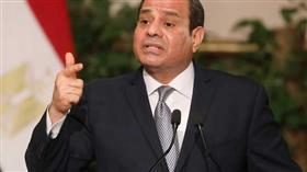 الرئيس المصري عبد الفتاح السيسي خلال المؤتمر الصحفي