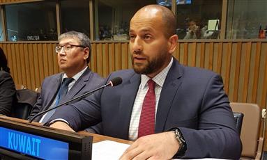 السكرتير الأول في وفد الكويت الدائم لدى المنظمة الدولية بشار الدويسان